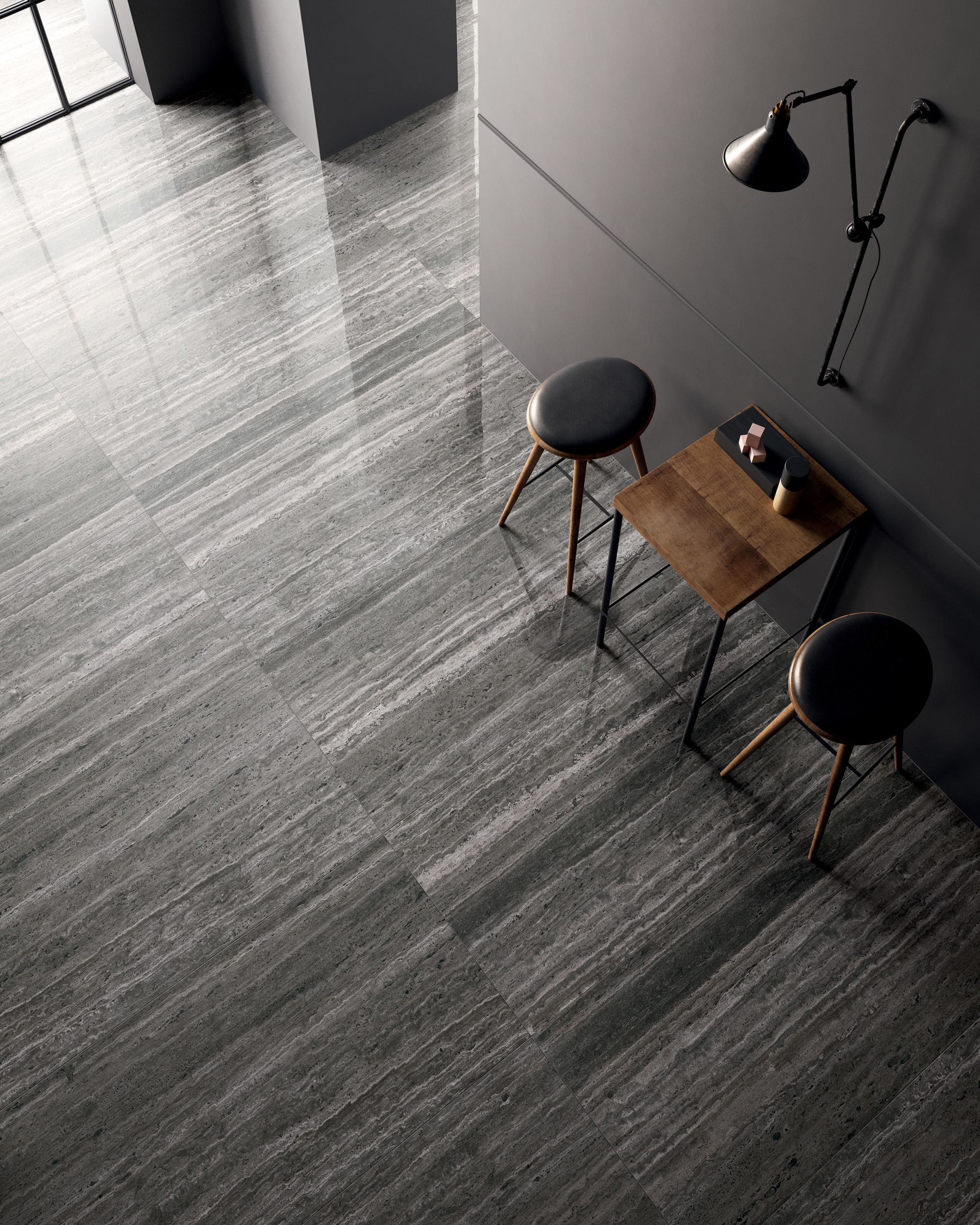 Trevi Nero Field Tile  Polished 24