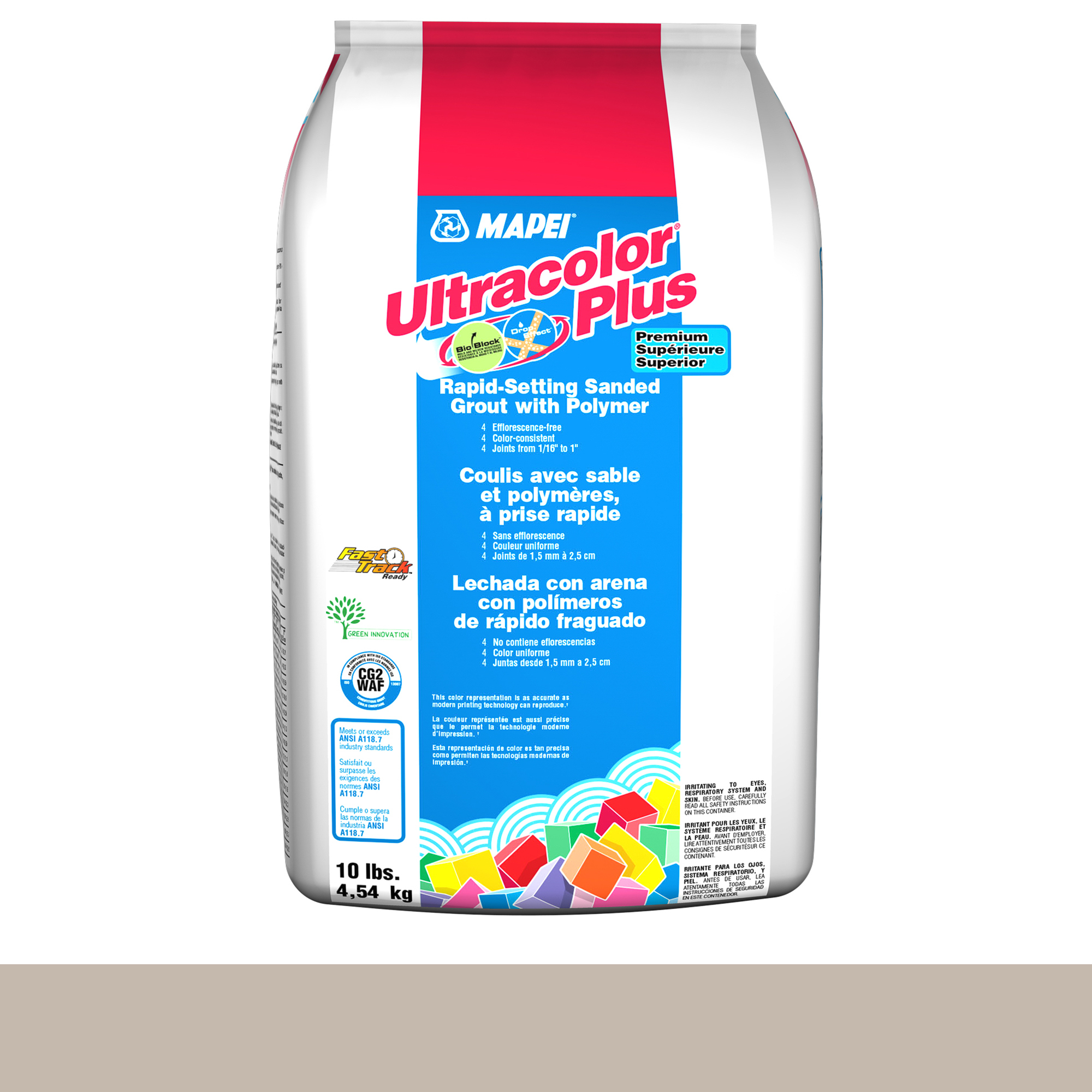 Mapei Ultracolor Plus Fa 39-Ivory 10-Lb Bag Grout Sanded product photo