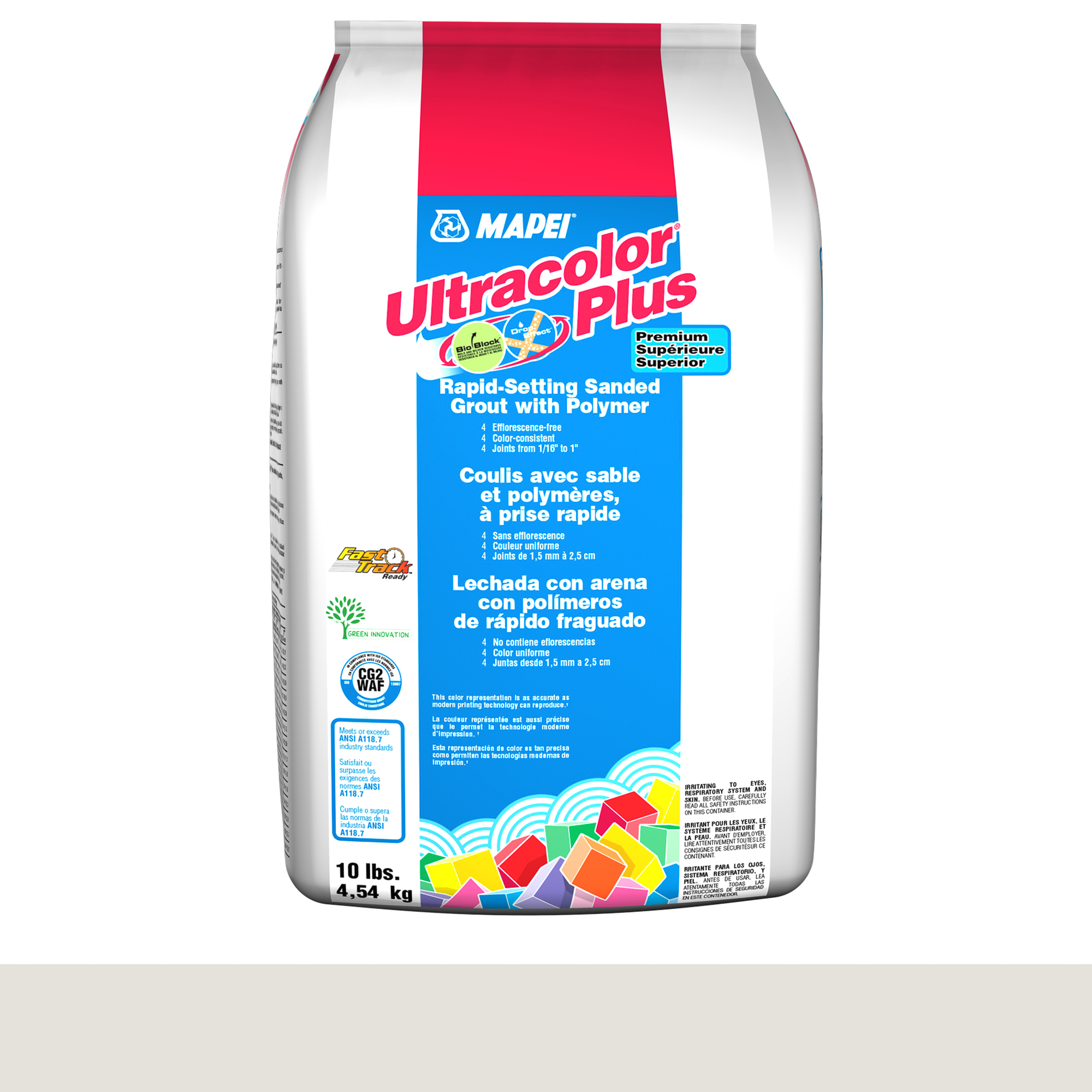 Mapei Ultracolor Plus Fa 00-White 10-Lb Bag Grout Sanded product photo